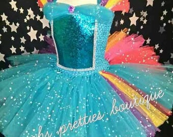 Pony inspired girls tutu dress