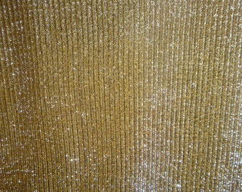 """Vintage Silver Thread Knit Lame Fabric w/ Synthetic Backing 1 Yard 52"""" Wide 1960s Retro Fashion Fabric in Excellent Cond 1 YD remaining"""