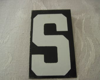 Vintage Sign Board Letter S 2 1/2 Inches By 1 1/2 Inches