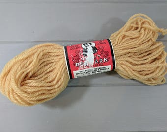 1 Vintage Aunt Lydia's Heavy Rug Yarn Skein, Color 560 Bronze Gold, Talon American, American Thread Company, Stamford Connecticut