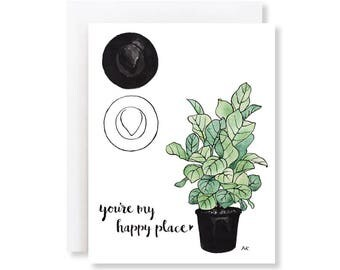 Anniversary Card Him / Card for Boyfriend / Card for Husband / I Love You Card / Best Friend Card / Card for Girlfriend / Happy Place Card
