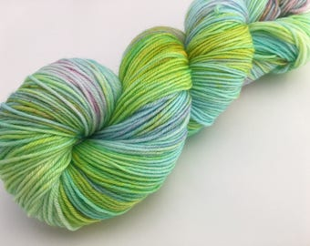 Hand dyed yarn Victoria sock -'Lily pad'