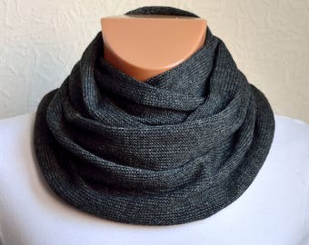 Hand made cashmere - wool unisex snood scarf