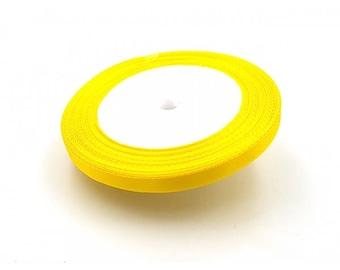 22 m 6mm yellow satin ribbon