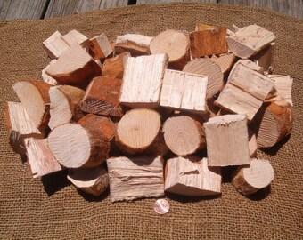 Fresh Cut Pecan BBQ Grilling Wood Flavor Chunks All Natural Organic Clean Cut Hand Prepared 5 Lb. To 15 lb.+ Listing