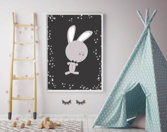 Amazing Bunny wall print