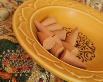Vintage Golden Seville Ceramic Dish // Incense Burner // Vintage Trinket Dish // Vintage Boho Decor