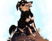 Illustrated Portrait custom illustration pet illustration human 1 SUBJECT