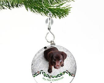Dogs First Christmas Ornament- Puppys First Christmas Ornaments- Puppys 1st Christmas- Pets First Christmas Ornament Puppies First Christmas