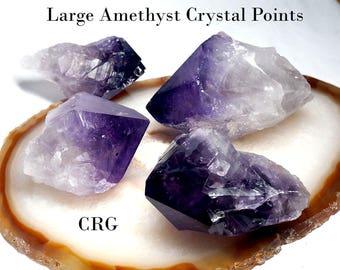 """Amethyst Points 1.5-3"""" Avg (GRADE A) 1/2 lb. (CRAMA-8)"""