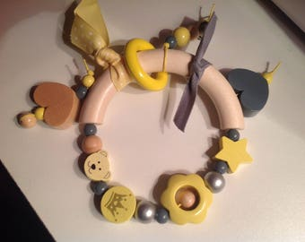Toy, rattle, teether for baby.