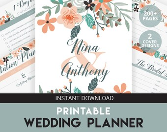Wedding Organizer | DIY Wedding Planner | Wedding Planner | Engagement Gift | Wedding Budget | Printable Wedding