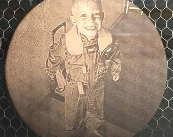 Leather Coasters - Laser engraved - Photos, logos, etc
