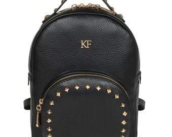 Leather Backpack, Leather Backpack Women, Black Leather Backpack KF-986