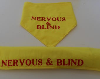 Safety Pet Bandannas & Lead Slips, Any wording any colour