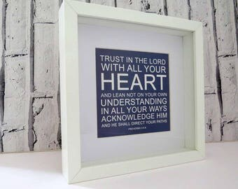 Trust in the LORD Frame, Beautiful Christian Gift
