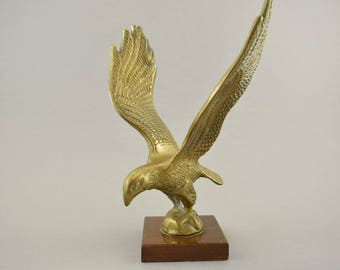 Vintage brass Eagle sculptur figurine, Mid Century Design, 60s