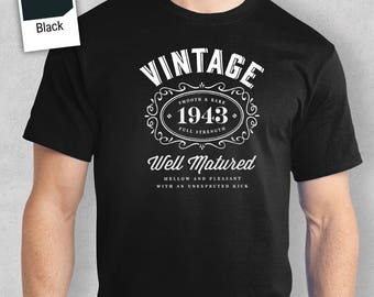 75th Birthday, 1943 Birthday, 1943 Legend. Men's T-shirt, 75th Birthday Gift, 75th Birthday Idea, 75 Birthday Present, 75 Birthday Gift!