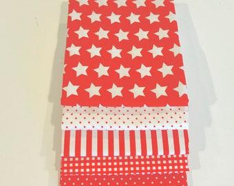 1/2 Yard Bundle Red Basics for Riley Blake Designs- 5 Fabrics