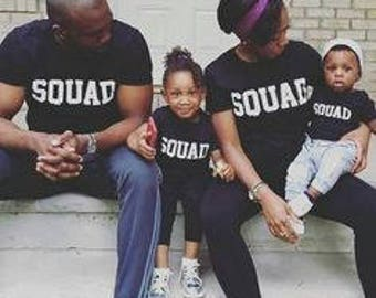 Squad / squad goals / family matching shirts /squad bridal t-shirts / daddy and son /mommy and me/family matching  shirts;/free shipping