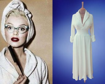 Marilyn Monroe...How to marry a millionaire bath robe and matching turban.