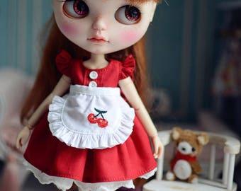 Handmade Blythe Outfit, Blythe Dress,Cherry season