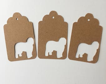 Old English Sheepdog Gift Tags