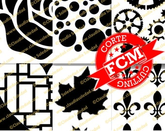 FCM Cutting Files for ScanNCut - 6 pack