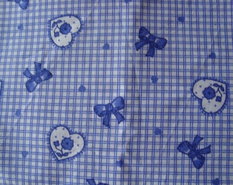 child heart vintage fabric and ribbons