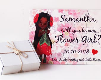 Will you be my Flower Girl,  Flower Girl proposal, Asking Flower Girl, Flower Girl puzzle, Flower Girl Invitation puzzle, Flower Girl