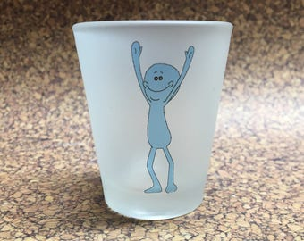 Rick and Morty Inspired Shot Glass Mr. Meeseeks
