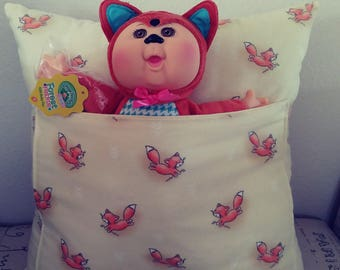 Fox Forest Friends Cabbage Patch Cutie pocket pillow with Fox doll
