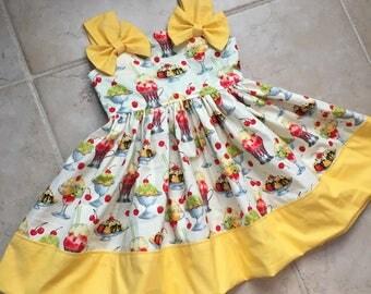 Ice cream social dress, ice cream dress