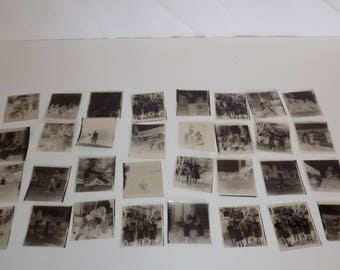 Collection of Vintage Black and White Photograph Negatives