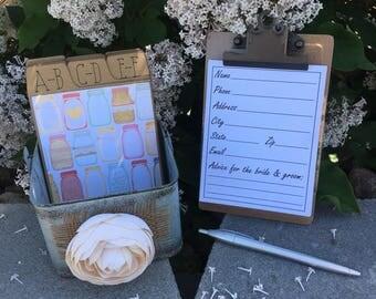 wedding guest address book