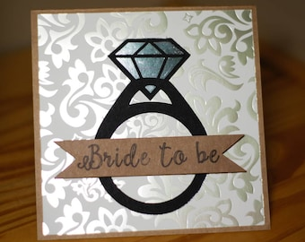Bride to be ring card