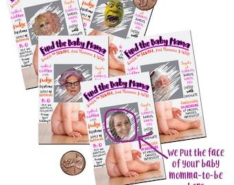 Baby Momma Fun Baby Shower Game, Baby Shower Game girl, shower games girl, baby girl shower games, girl shower games, baby shower game