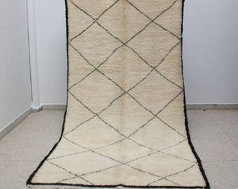 Authentic Superior Quality Handmade Beni Ourain Moroccan Berber Rug 10'9 x 5'5