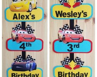 Disney Cars Welcome Door Sign, Disney Cars Door Sign, Disney Cars Welcome Sign, Disney Cars Birthday Party, Lightening McQueen Party