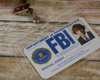 Supernatural Inspired FBI card, Sam, Dean, Castiel, Supernatural cosplay, Supernatural party, FBI ID