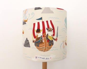 Vikings Lampshade | Boy's Room Decor| Sea Dragon | Viking Ship