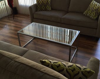 "Custom 60x30xheight coffee table with 1/2"" tempered glass"