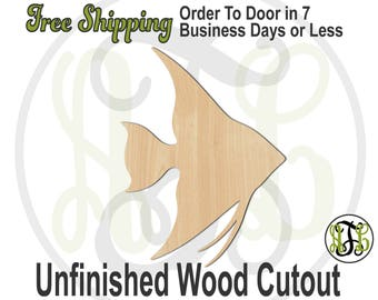 angelfish 230093 fish cutout unfinished wood cutout wood craft laser