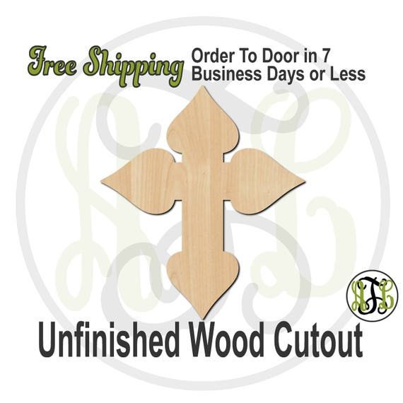 """Cross 5- 2"""" to 6"""" Minis- 290036- Small Wood Cutout, unfinished, wood cutout, wood craft, laser cut, wood cut out, ornament"""