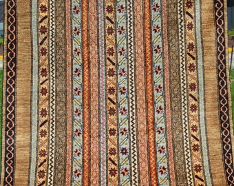 FUTHER SALE 40% DISCOUNT 6 by 4'4 ft Lovely Boteh's Pattern Wall Hanging Carpet