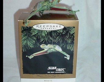 Hallmark Keepsake Ornament Star Trek TNG 1994 Klingon Bird of Prey