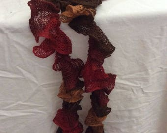 Twisted fall colored scarf
