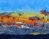 Sunrise Sky with Silhouet...