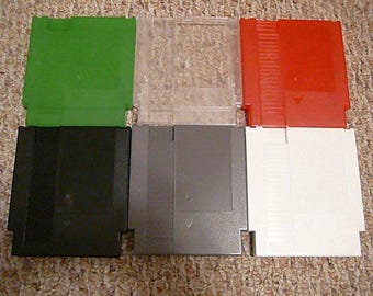 42-pack New Nintendo NES cartridge shell case w/ screws (mix and match colors)