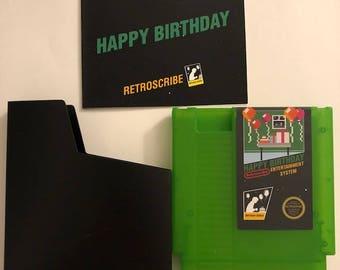 LIMITED GREEN Nintendo NES Greeting Cart gift card holder (birthday) - Retroscribe